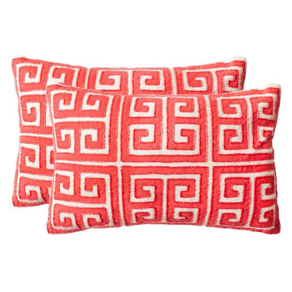 Safavieh Chy Embellished Hand-Beaded Pillow (2-Pack) DEC256C-1218-SET2