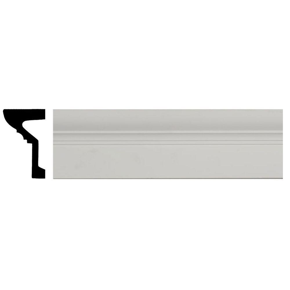 Ekena Millwork 4 in. x 6-1/4 in. x 94-1/2 in. Polyurethane Standard Panel Moulding