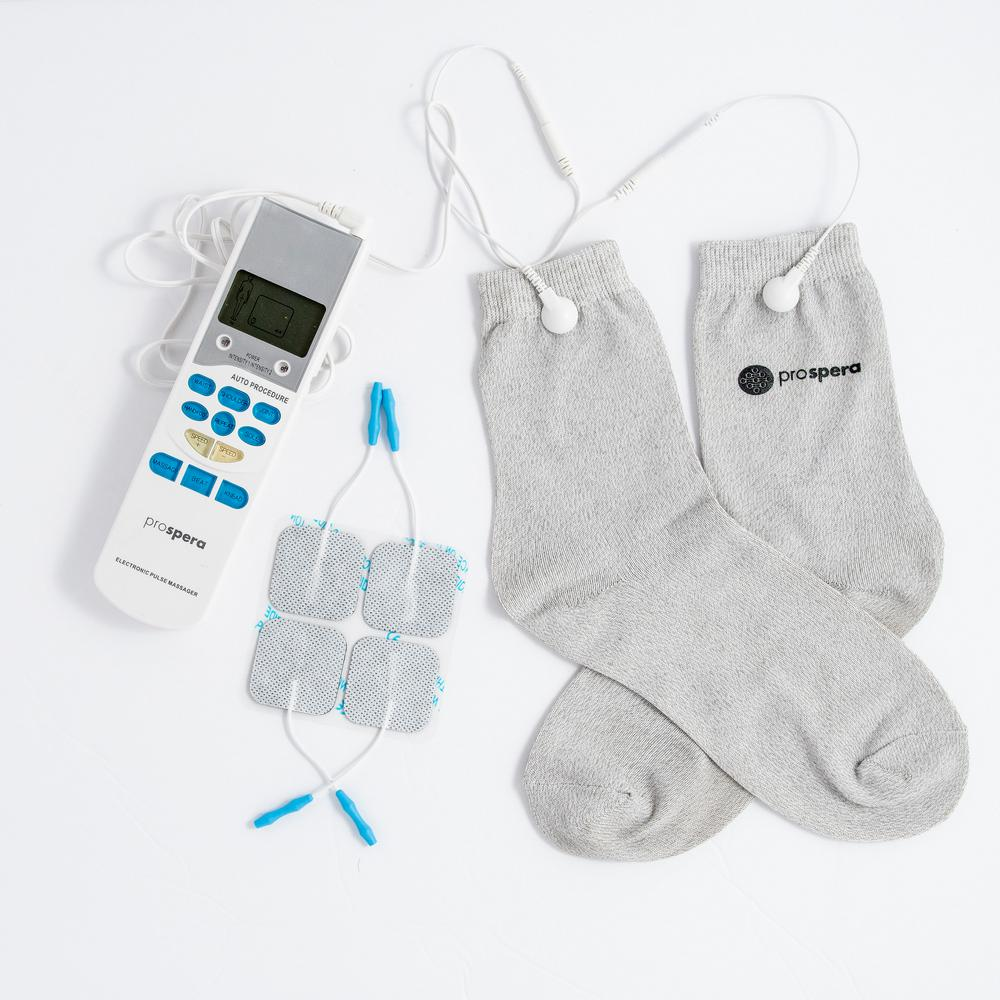 TENS Socks 10-Speed Electronic Pulse Massager with 8-Pads