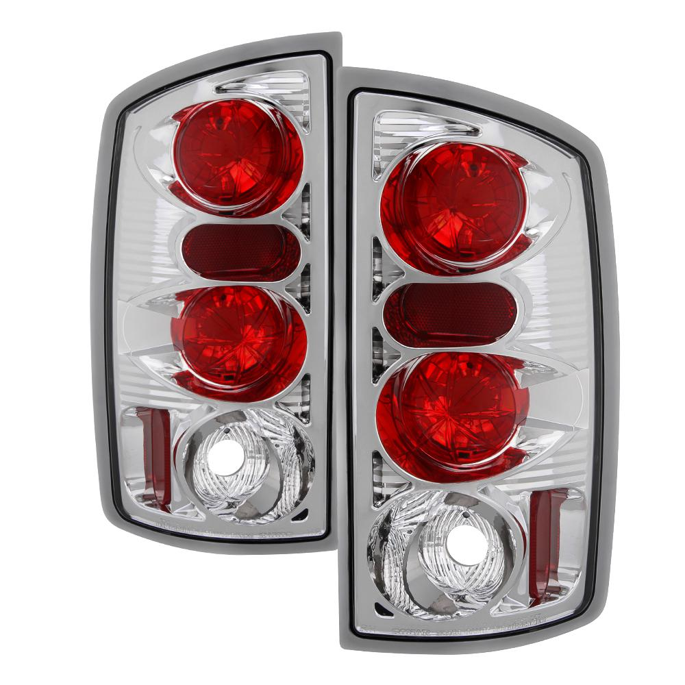 Dodge Ram 02 06 1500 2500 3500 03 Euro Style Tail Lights Chrome