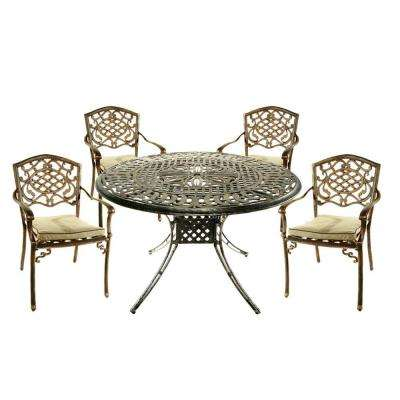 Capitol 5-Piece Patio Dining Set with Fully Welded Chairs and Cushions