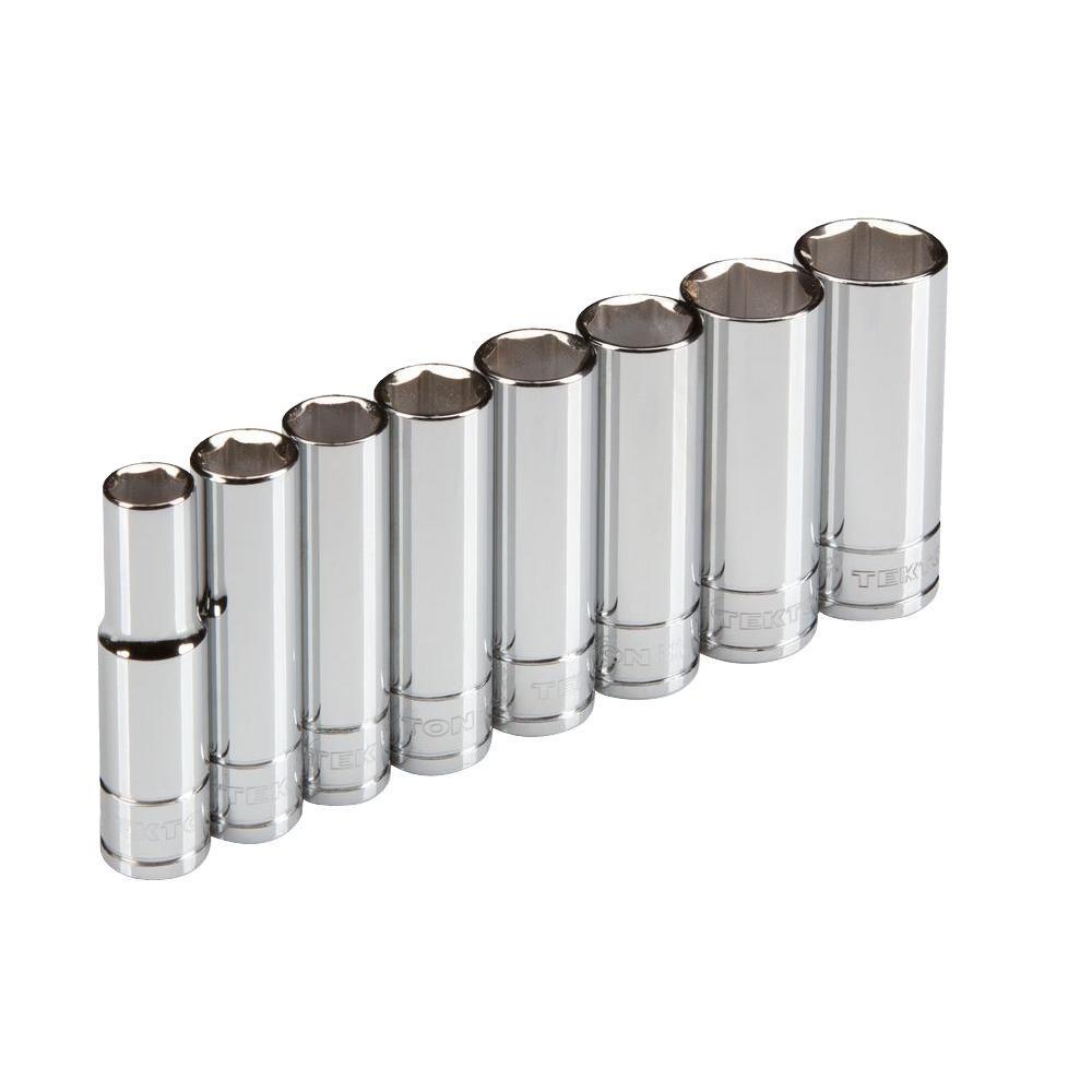 3/8 in. Drive 10-19 mm 6-Point Deep Socket Set