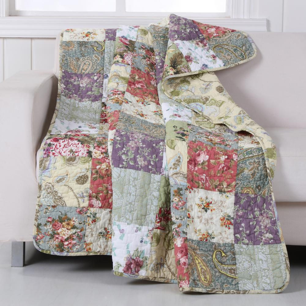 Greenland Home Fashions Blooming Prairie Multi Quilted