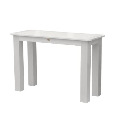 White Rectangular Recycled Plastic Outdoor Balcony Height Dining Table