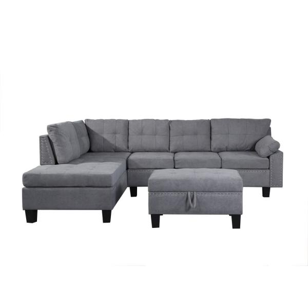 With Pine Wood Frame Ice Velvet Fabric, Furniture Sofa Set