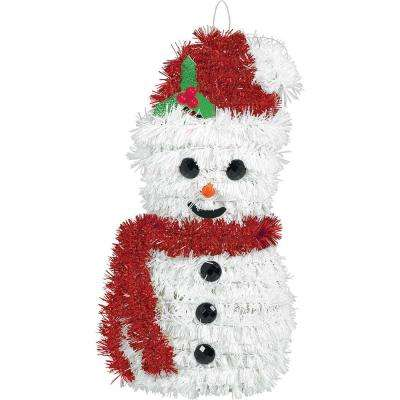 6.5 in. x 3 in. x 2 in. Snowman Tinsel Decoration (5-Pack)