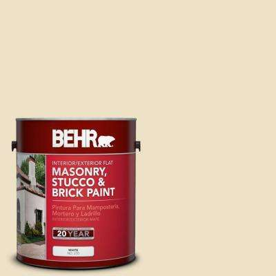 1-gal. #MS-26 Chablis Cream Flat Interior/Exterior Masonry, Stucco and Brick Paint