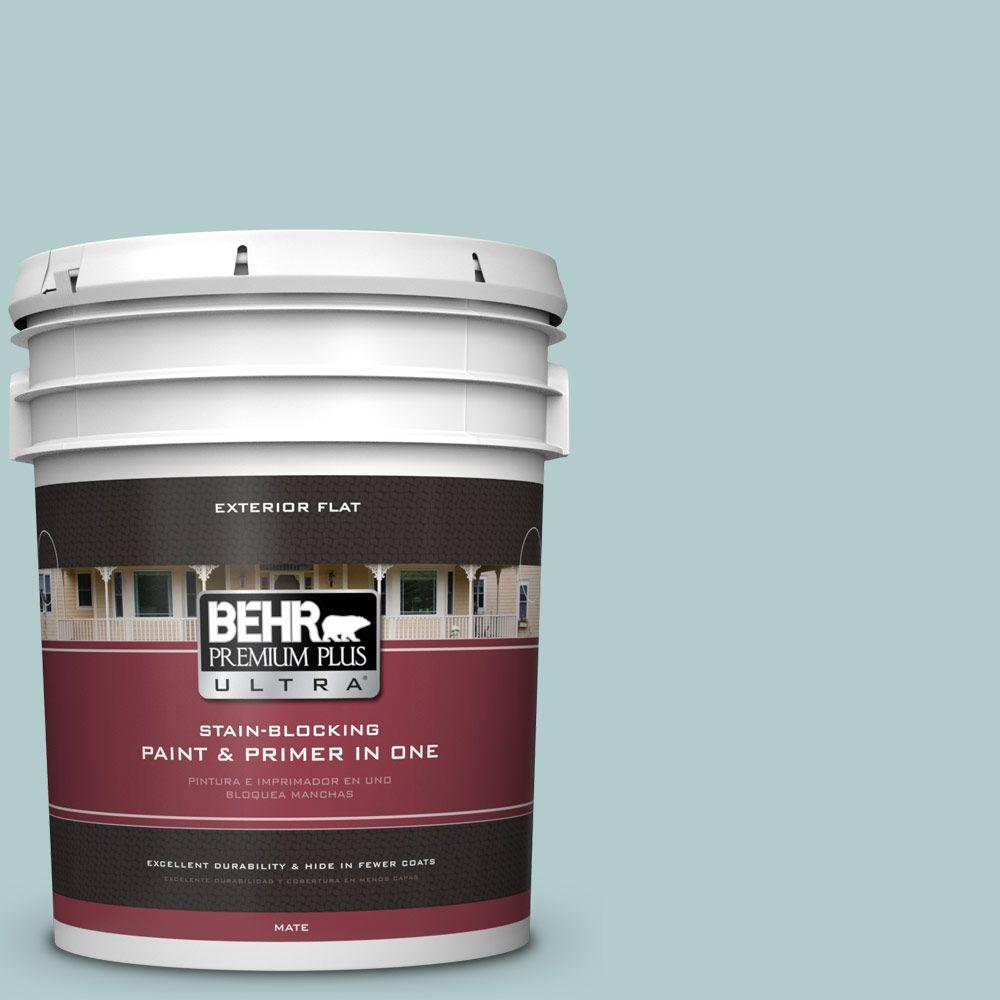 BEHR Premium Plus Ultra 5-gal. #PPU13-15 Clear Pond Flat Exterior Paint