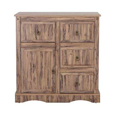 Wren Maple Veneer Simplicity Storage Cabinet with 1-Door 4-Drawers