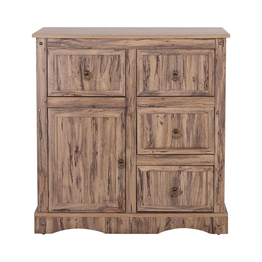 Elegant Home Fashions Wren Maple Veneer Simplicity Storage Cabinet with 1-Door