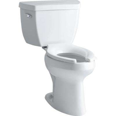 Highline Classic Comfort Height 2-piece 1.0 GPF Single Flush Elongated Toilet in White, Seat Not Included