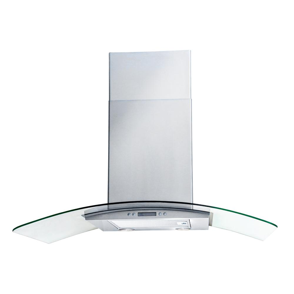 Arietta Dekor Glass 30 in. Wall Mount Decorative Range Ho...