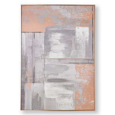 "39 in. x 28 in. ""Rose Gold Glow"" Printed Canvas Wall Art"