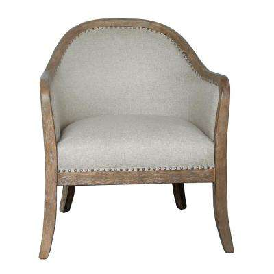 2-Tone Wood Frame Accent Chair