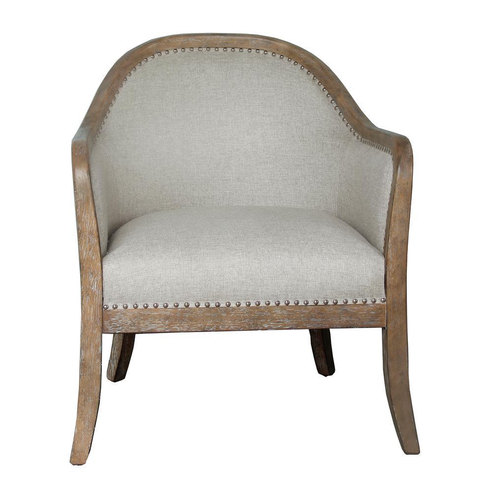 HomeFare 2-Tone Wood Frame Accent Chair DS-D153-701-974