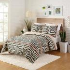 Hypnotic by Justina Blankeney Black Cotton King Quilt (Set of 3)
