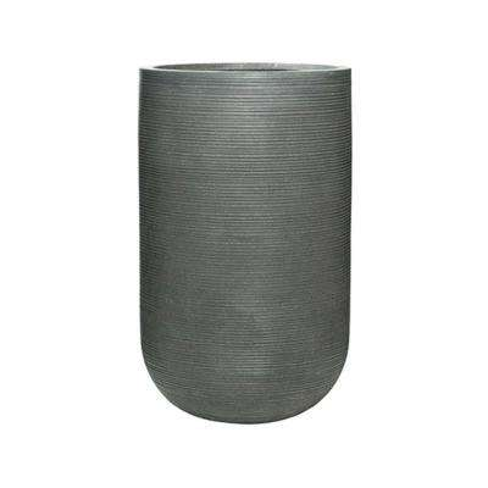16 in. x 27 in. Rough Grey Round Fibercement Rough Pot
