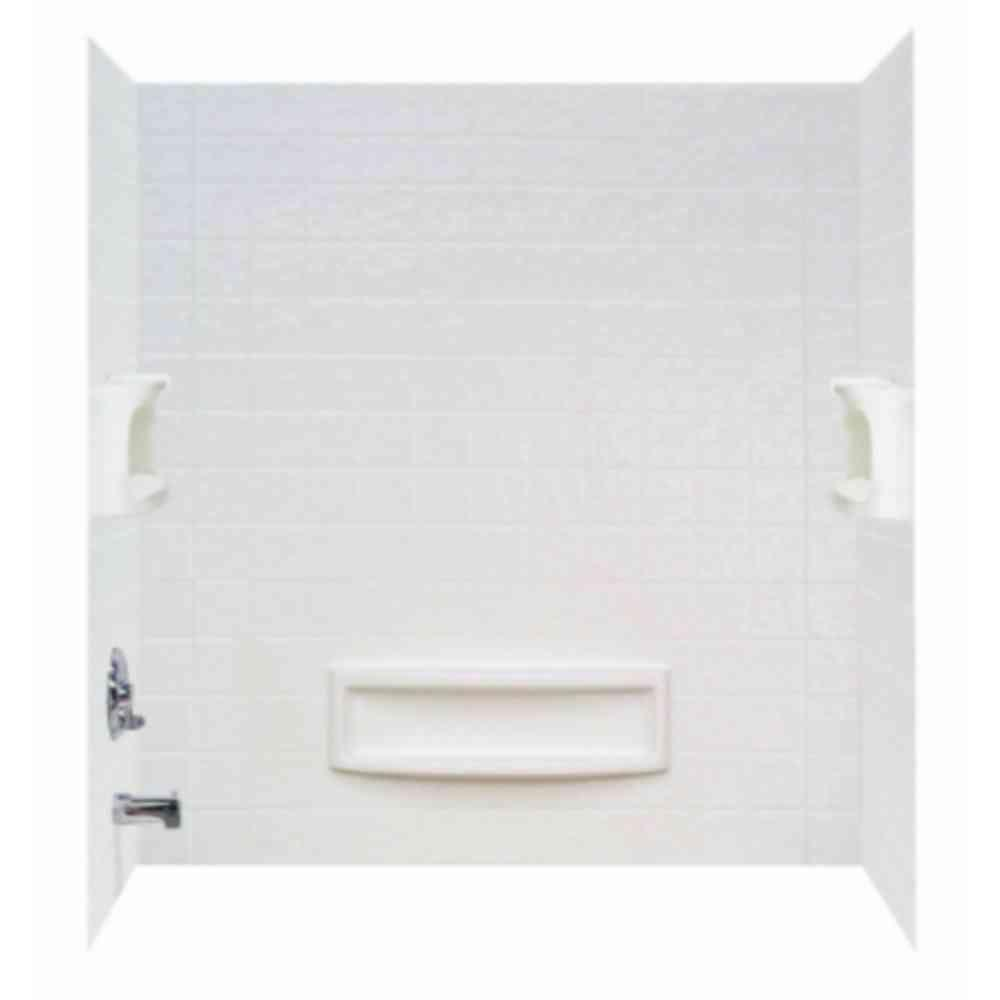 3 Piece Easy Up Adhesive Tub Wall In High Gloss White 39094 HD   The Home  Depot