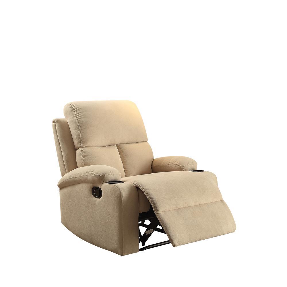 Acme Furniture Rosia Beige Recliner by Acme Furniture