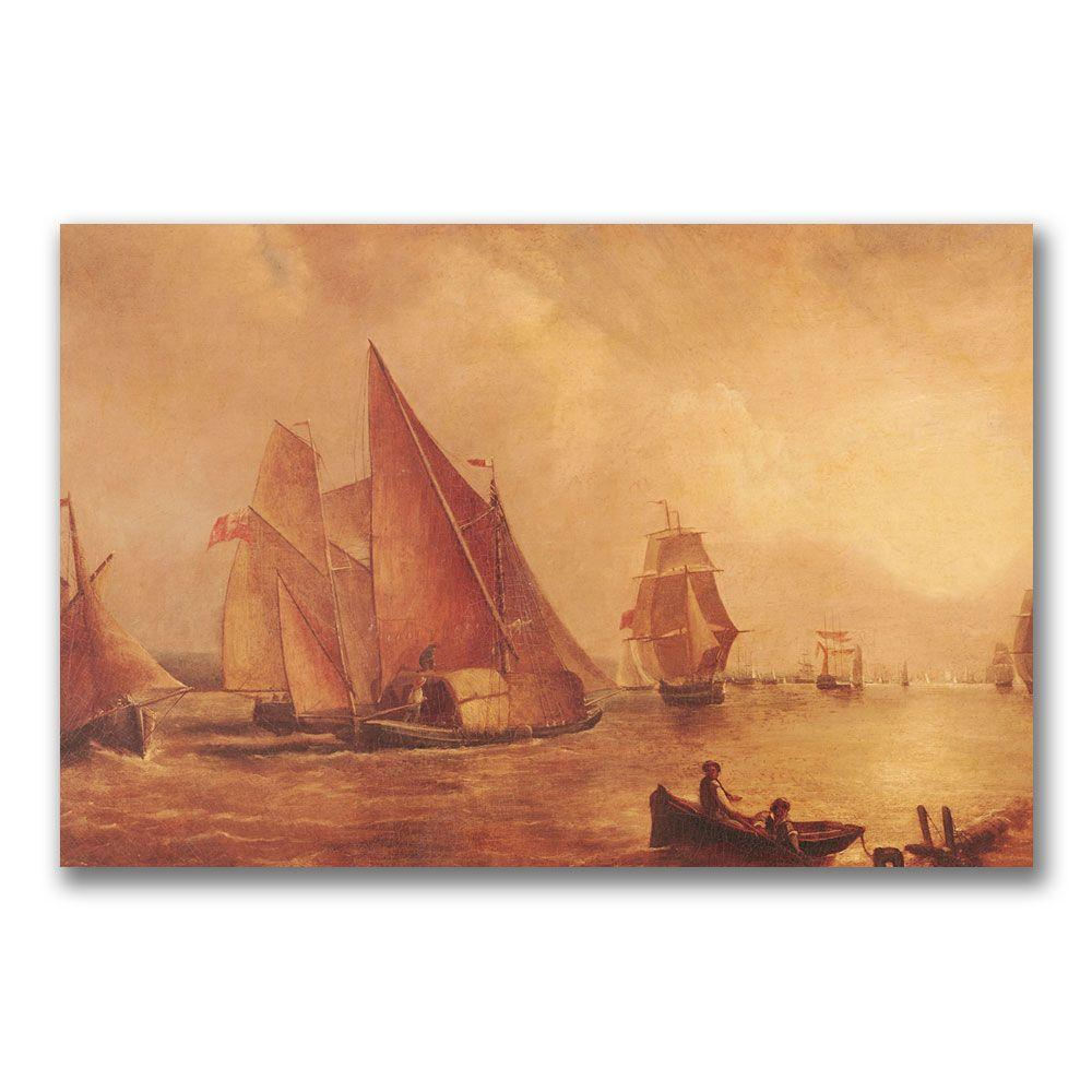 22 in. x 32 in. Estuary of the Thames Canvas Art