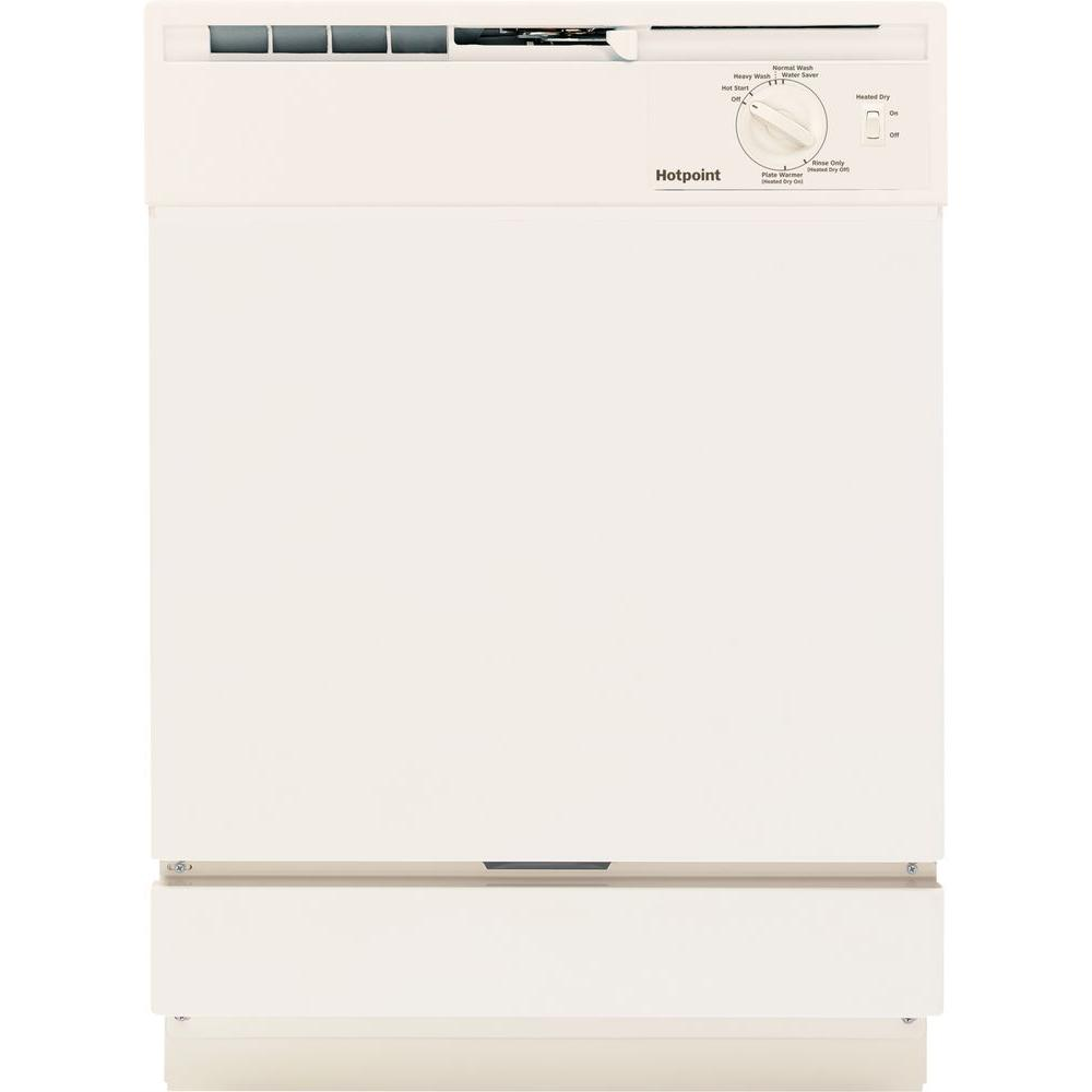 Hotpoint Front Control Dishwasher in Bisque, Beige/Bisque