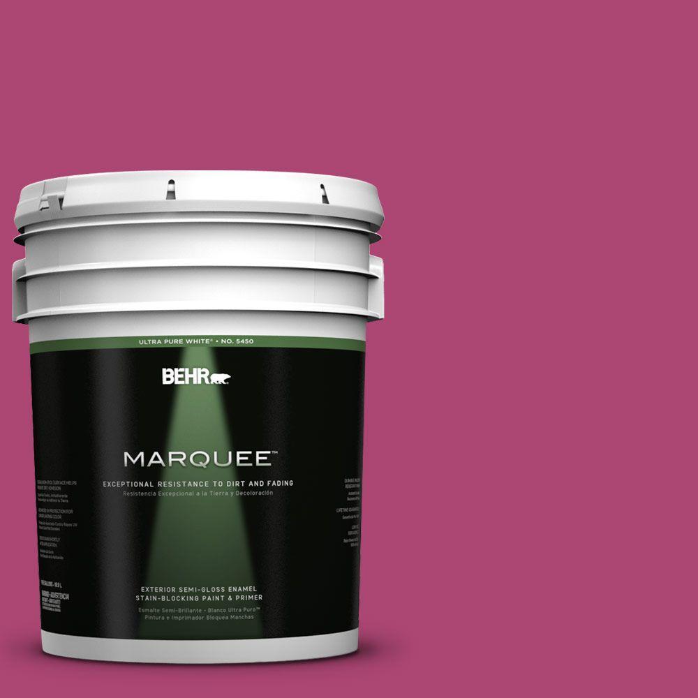5-gal. #100B-7 Hot Pink Semi-Gloss Enamel Exterior Paint