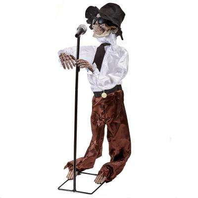 40 in. Halloween Singing Skeleton