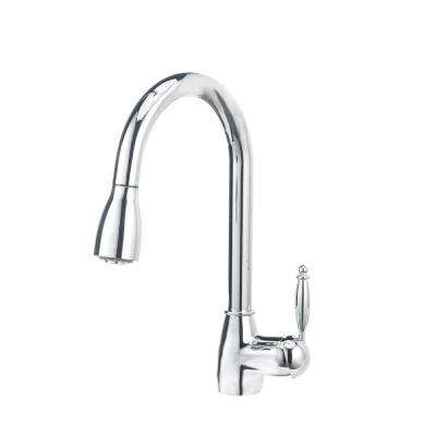GRACE II 1.8 Single-Handle Pull-Down Sprayer Kitchen Faucet in Polished Chrome