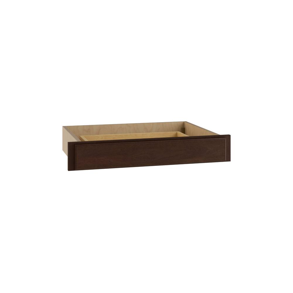Home Decorators Collection Somerset Assembled 30 x 4.875 x 21 in. Base Knee Height Desk Drawer in Manganite
