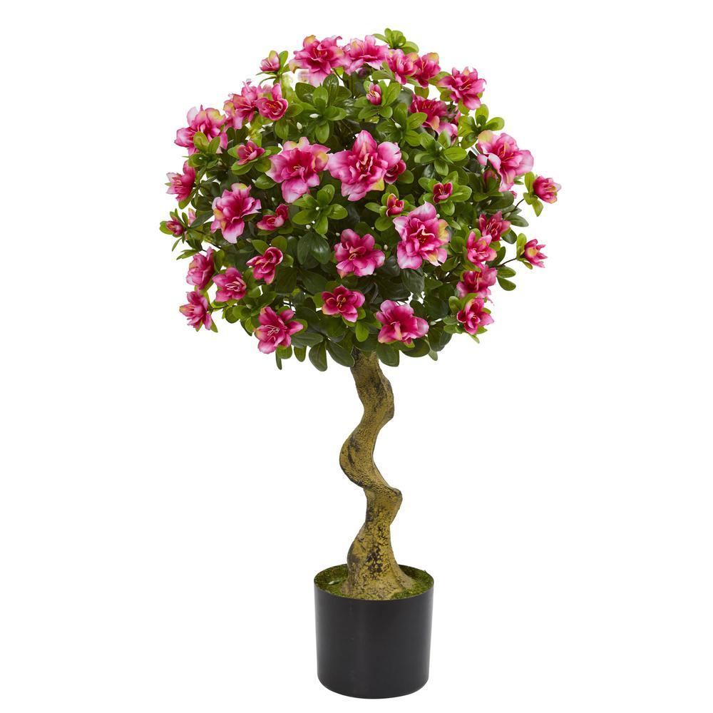 3 in. Azalea Artificial Topiary Tree