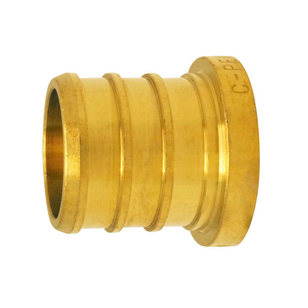 3/4 in. Brass PEX Barb Plug (50-Pack)