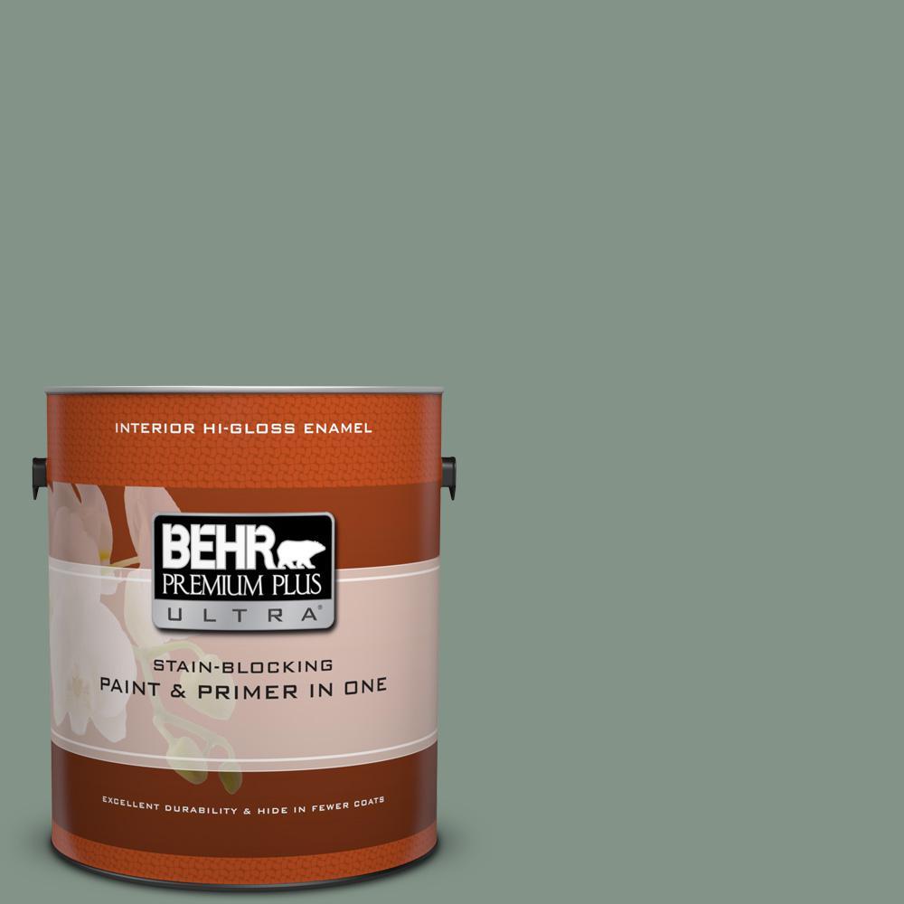 1 gal. #460F-4 Wethersfield Moss Hi-Gloss Enamel Interior Paint