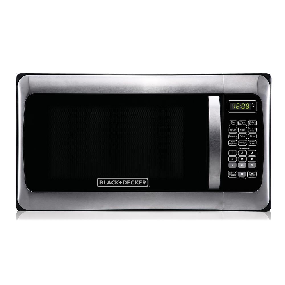 1.1 cu. ft. Countertop Digital Microwave in Stainless Steel