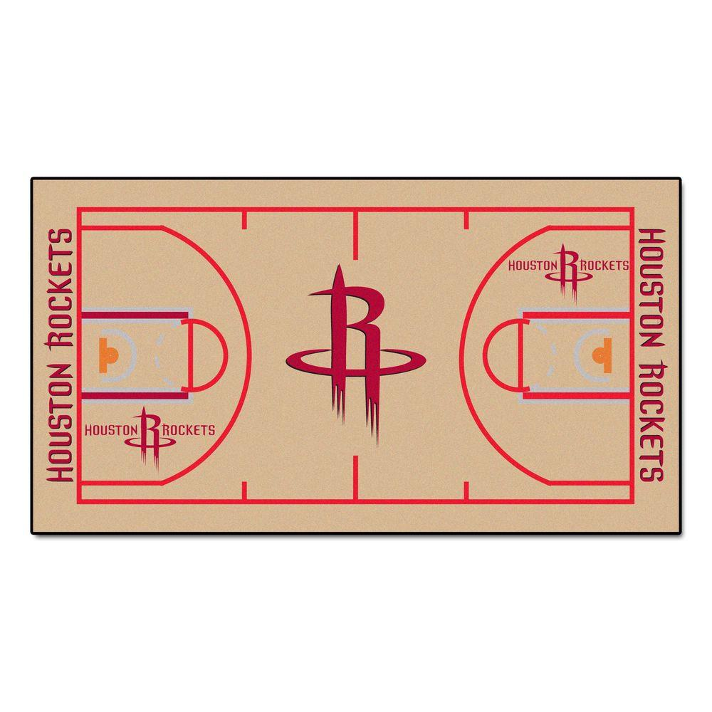 best sneakers 2c651 12459 FANMATS Houston Rockets 2 ft. x 4 ft. NBA Court Runner Rug