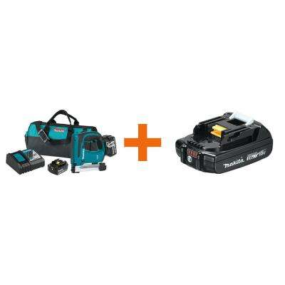 18-Volt 5.0Ah Lithium-Ion Brushless 3/8 in. Crown Stapler Kit with bonus 18-Volt LXT Lithium-Ion Battery Pack 2.0Ah