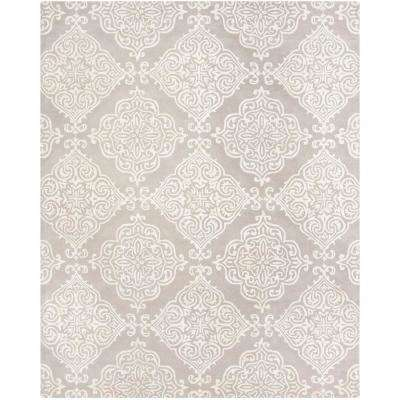 Glamour Silver/Ivory 8 ft. x 10 ft. Area Rug