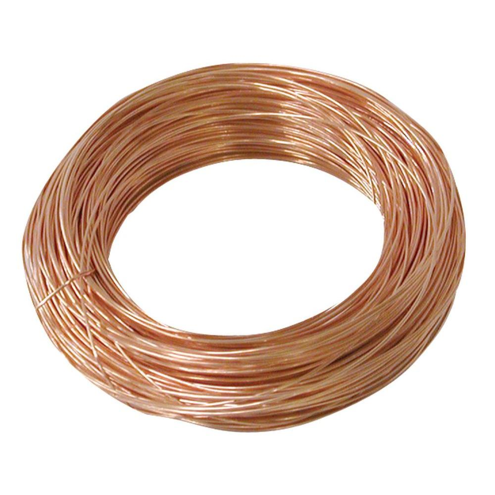 OOK 24 Gauge, 100ft Copper Hobby Wire-50164 - The Home Depot