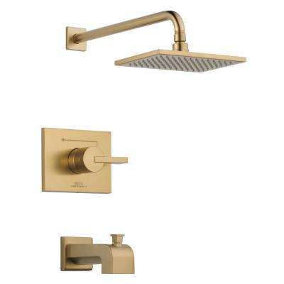 Vero 1-Handle Tub and Shower Faucet Trim Kit in Champagne Bronze (Valve Not Included)