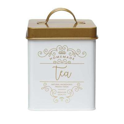 Harper 50 oz. Metal Tea Storage Canister with Square Shape