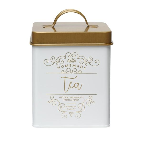 Amici Home Harper 50 oz. Metal Tea Storage Canister with Square