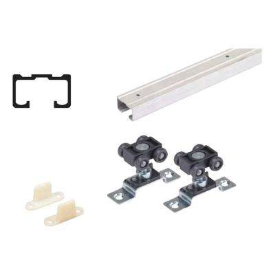 96 in. Grant 75E Single Economy Door Hardware and Track