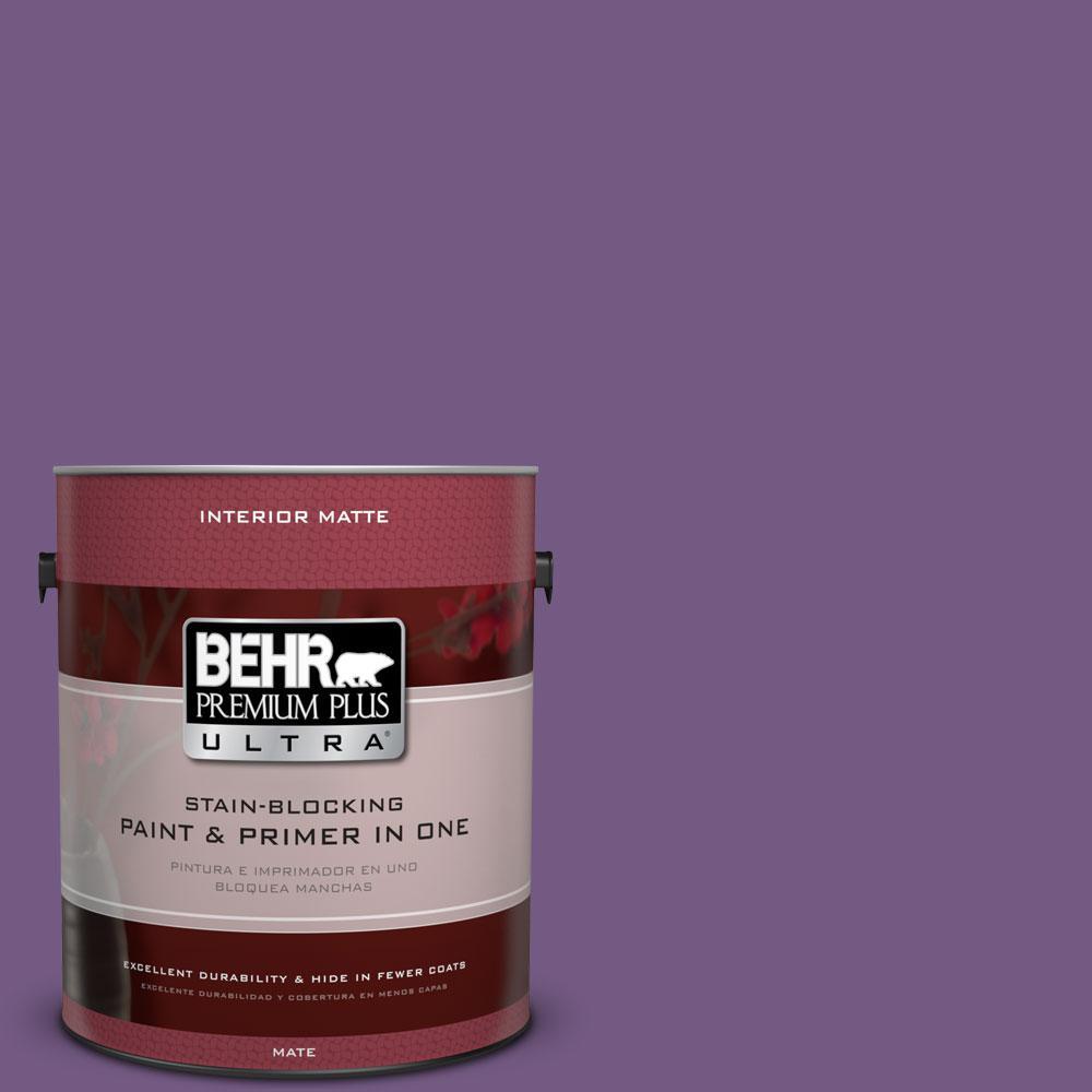 1 gal. #650B-7 Mystical Purple Flat/Matte Interior Paint