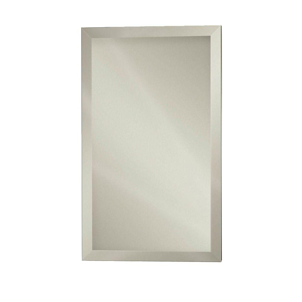 Studio IV 15 in. x 35 in. x 5 in. Frameless Stainless Recessed or Surface-Mount Bathroom Medicine Cabinet