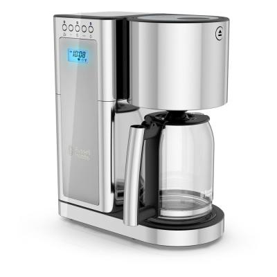 Glass Series 8-Cup Silver Stainless Steel Drip Coffee Maker