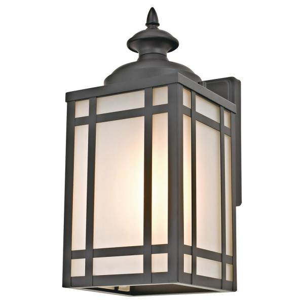 Black Mission Style Outdoor Wall Sconce