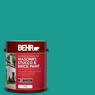 1 gal. #P450-6 Tropics Flat Interior/Exterior Masonry, Stucco and Brick Paint