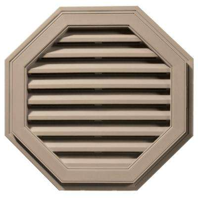 27 in. Octagon Gable Vent in Wicker