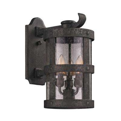 Barbosa 3-Light Barbosa Bronze Outdoor Wall Mount Sconce