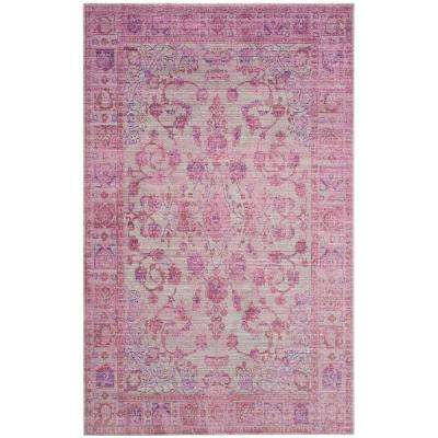 Valencia Pink/Multi 8 ft. x 10 ft. Area Rug