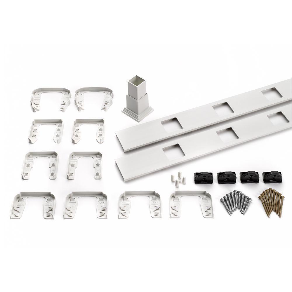 Trex Transcend 67.5 in. Composite White Horizontal Square Baluster Accessory Kit